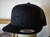 HARDLY-DRIVEABLE meshcap BLACK LOGO