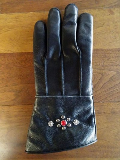 画像2: Studs gauntlet gloves Nine Berry
