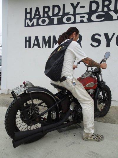 画像2: HARDLY-DRIVEABLE Motorcycle teardrop bag