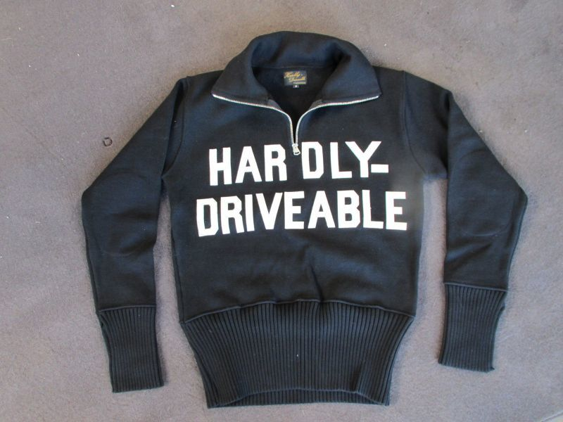画像1: HARDLY-MOTORCYCLE SWEATER(heavy cotton)