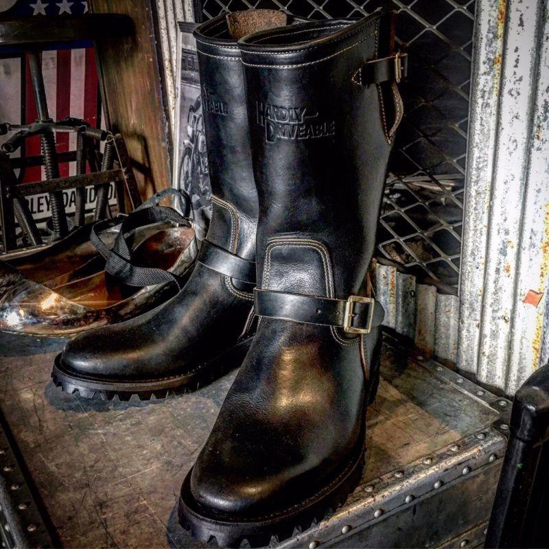 画像2: HARDLY-DRIVEABLE 40's style engineer boots